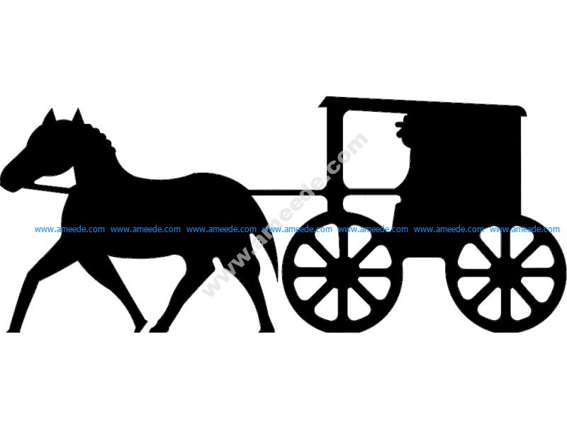 Cavalo Com carroça