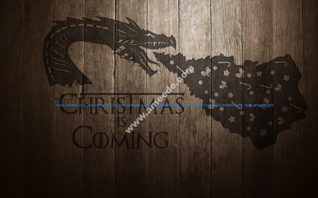 Cdr File Christmas Dragon