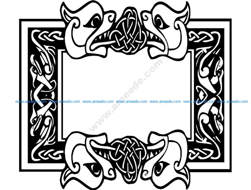 Celtic Font Frame