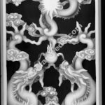 Chinese dragon totem 3d model relief for CNC BMP File