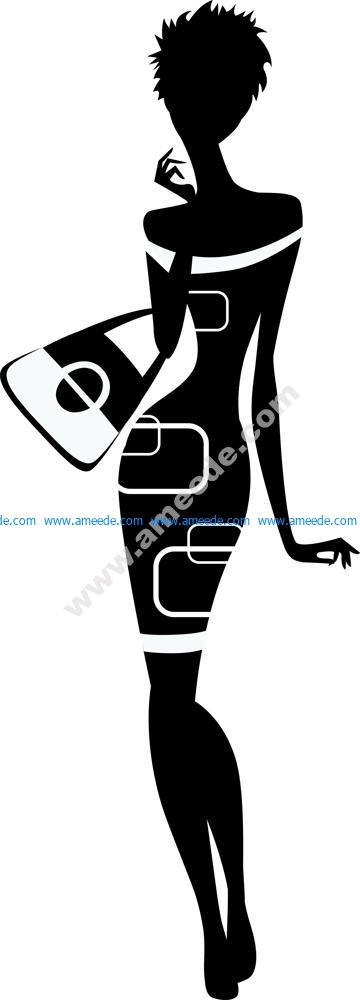 Classy woman silhouette Vector