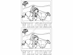 Cowboy Welcome Sign 6