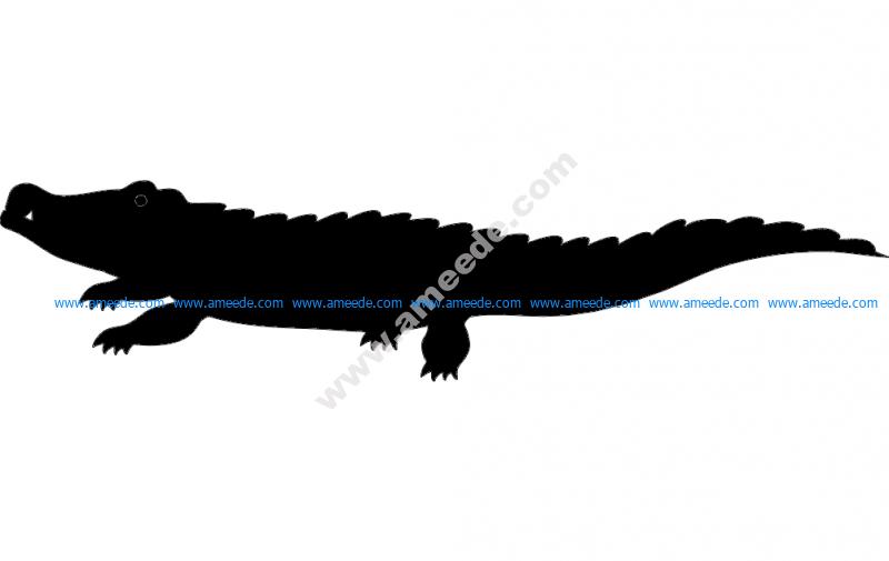 Crocodile Silhouette vector