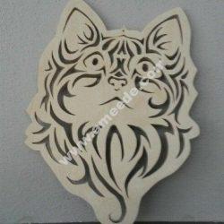 Cute Kitten Face Cat Stencil Vector