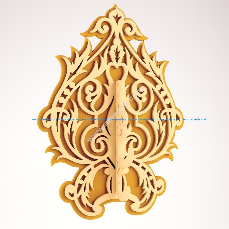 DIY wood decorative wall hooks hanger