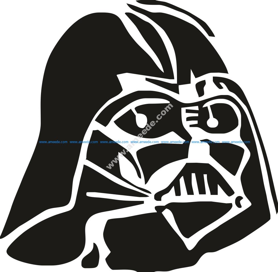 Darth Vader Stencil Vector