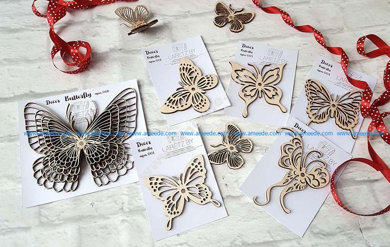 Decor Butterfly CNC Laser