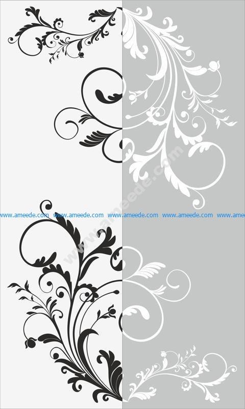 Decorative Floral Pattern Sandblast Pattern