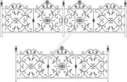 Decorative Wroughtiron Fence Or Railing