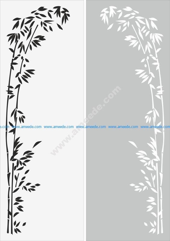Decorative floral border ornament sandblast pattern
