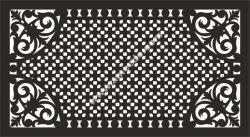 Decorative grill pattern vector