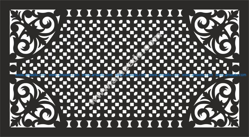 Decorative grill pattern vector EPS File