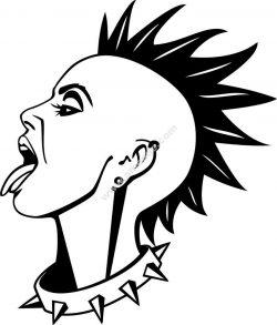 Decorative punk girl vinyl