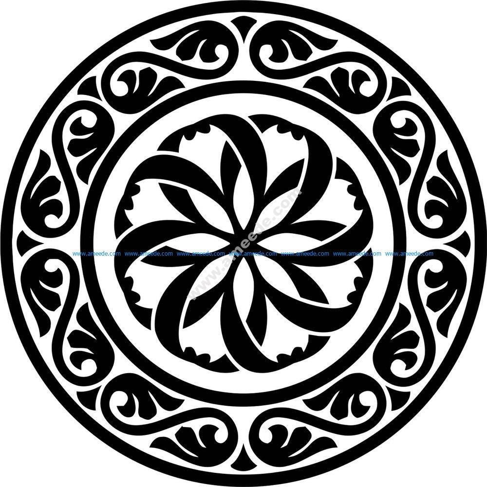 Design Round Stencil motif