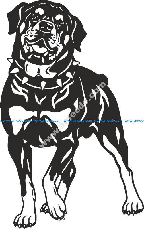 Dog Rottweiler Breed vector art