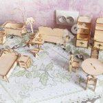 Doll Furniture Laser Cut 3D Puzzle