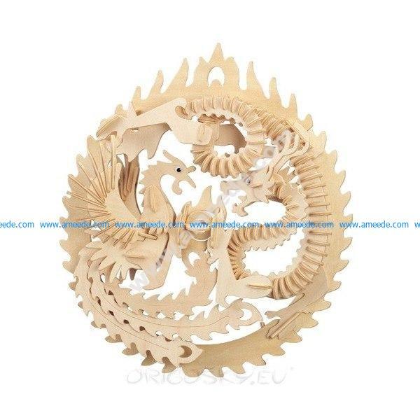 Dragon And Pheonex 3d Print Figure