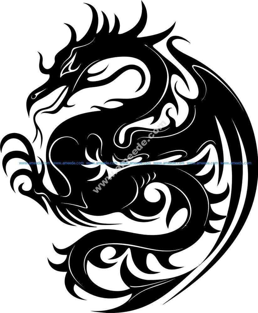 Dragon Stencil
