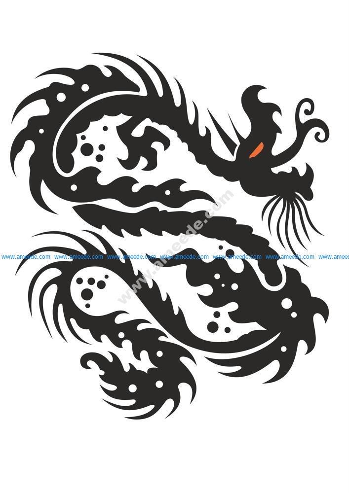Dragon Symbol Vector