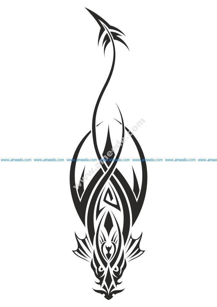 Dragon Tattoo Design Vector