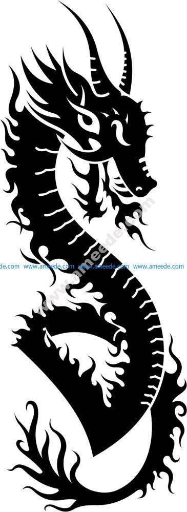 Dragon Vector Tatoo
