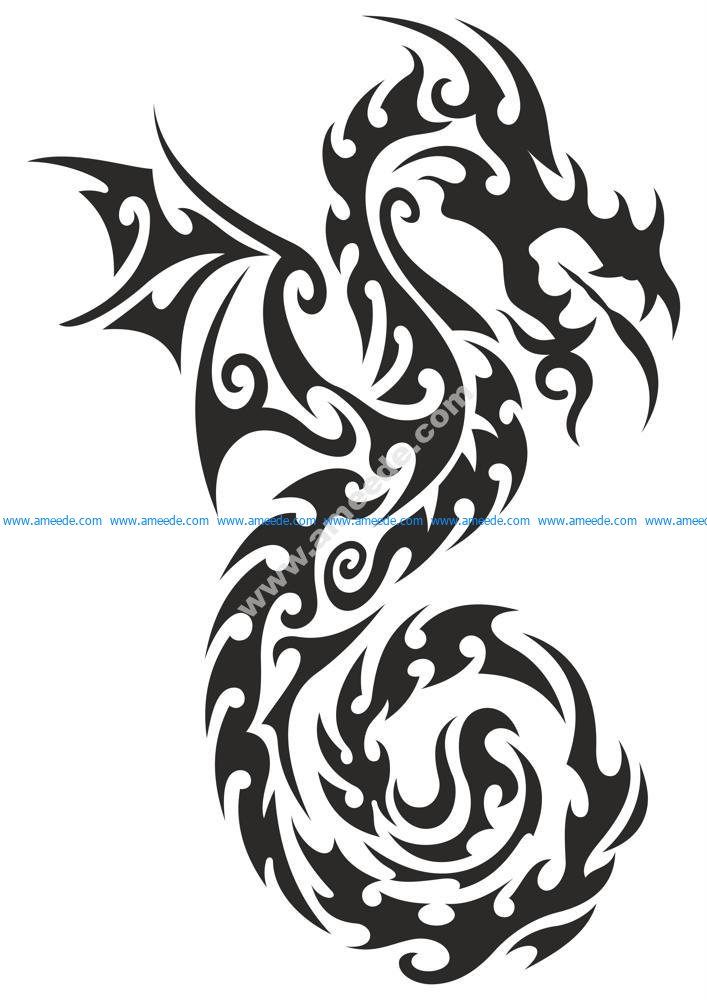 Dragon totem Tattoo Sticker
