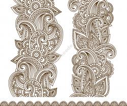 Drawn Mehndi Vector