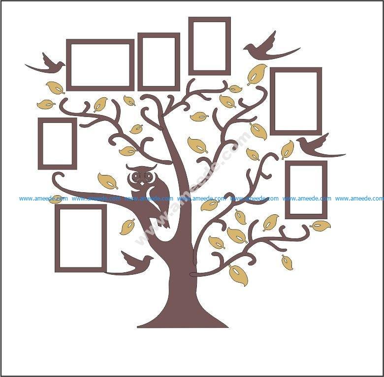 Family Tree Owl Photo Frames