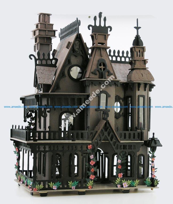 Fantasy Villa Vector plan for CNC