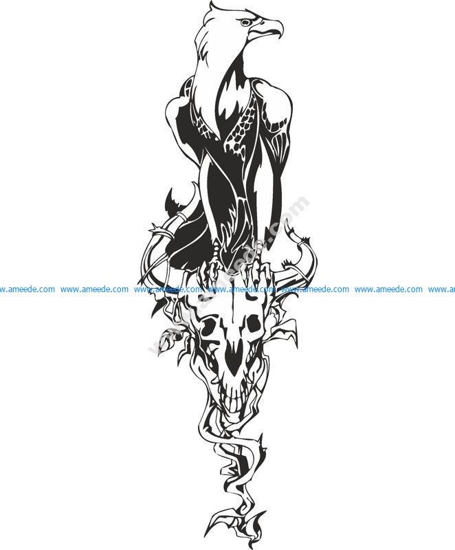 Fenix bird vector art