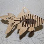 Fish 3D Puzzle Laser cut Pattern