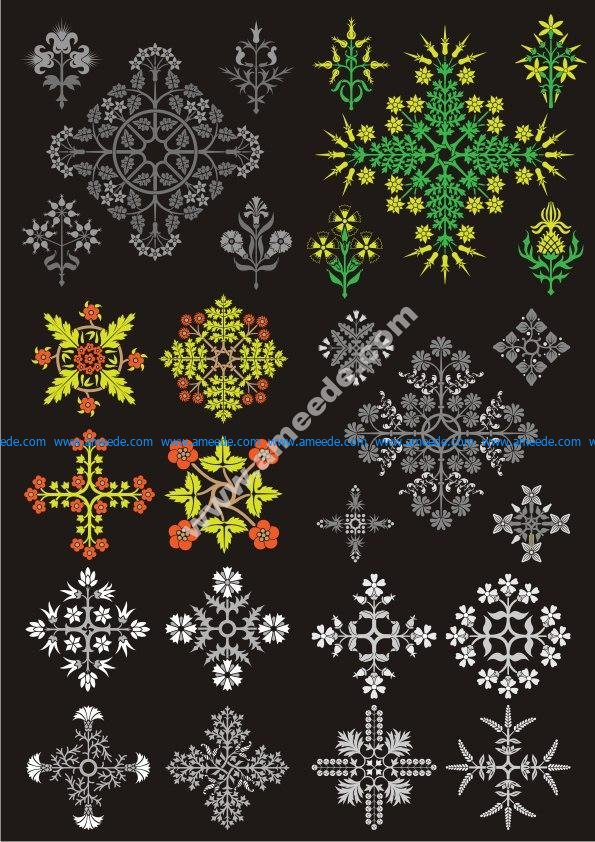 Floral Design Ornament Pack