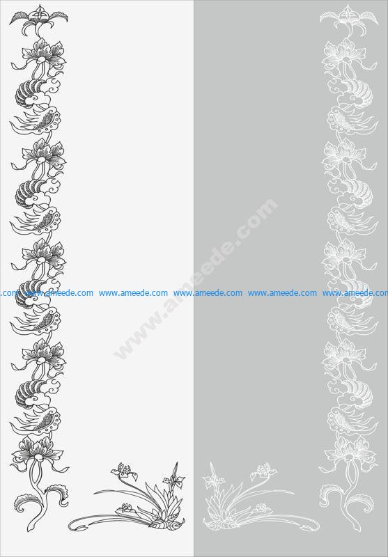 Floral Design Sandblast Pattern