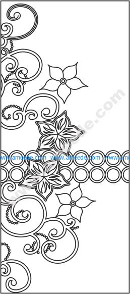 Floral Design Wardrobe Door Vector