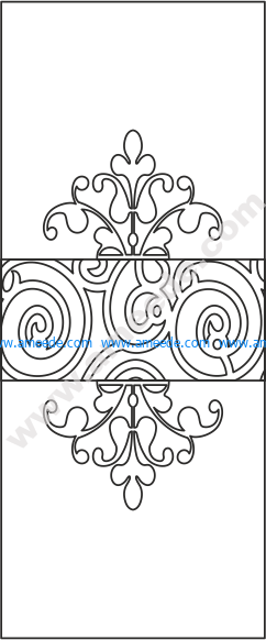 Floral Door Design Vector