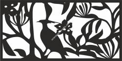 Floral Screen Panel Design Vector
