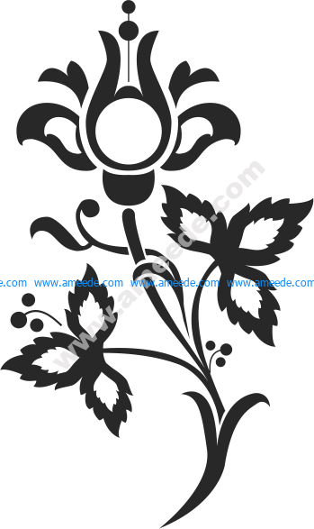Floral Scrolls Silhouettes Vector Art