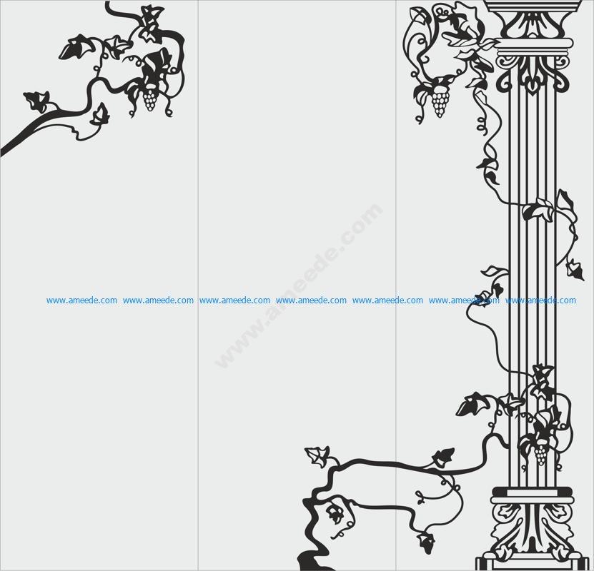 Flower Vector graphics for sandblasting
