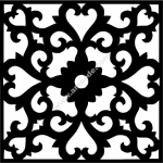 Flower Wall Border Stencil Template