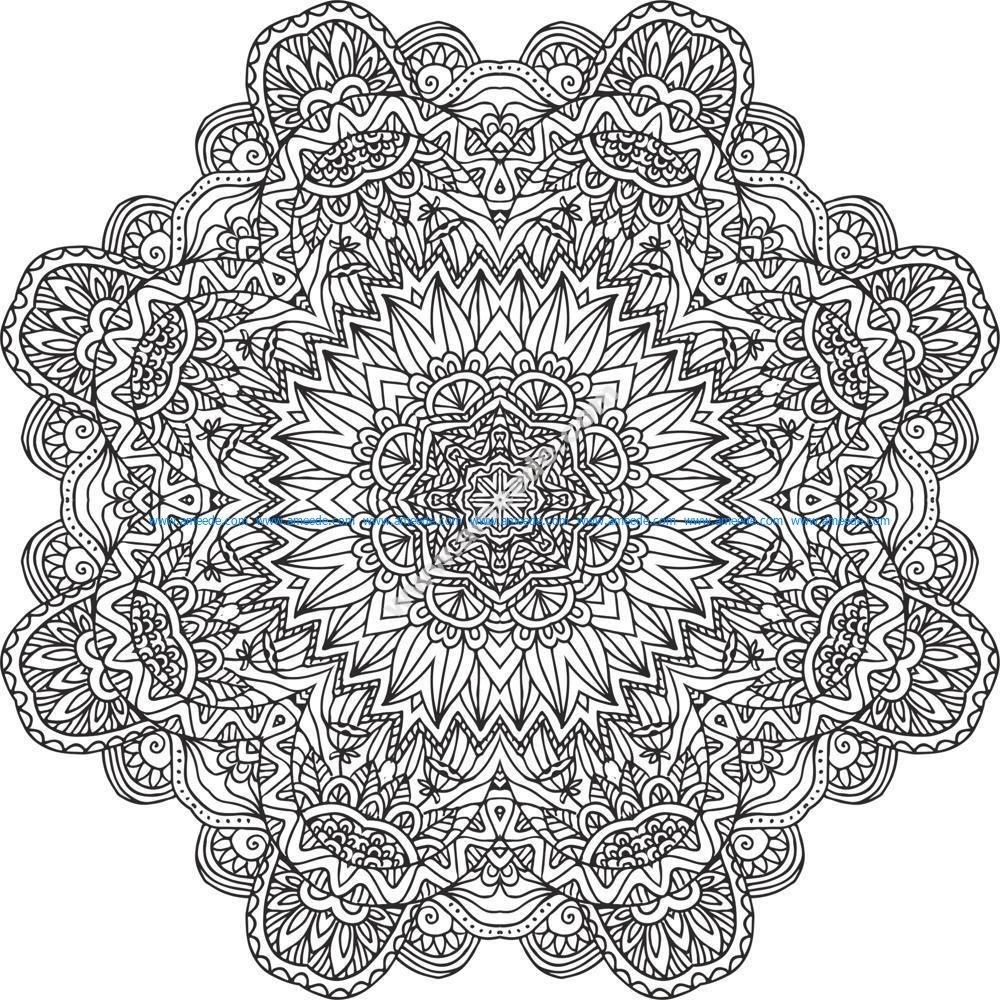 Flowers Setncil Vector