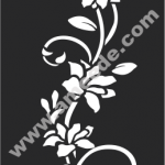 Flowers Wall Decal White Vines