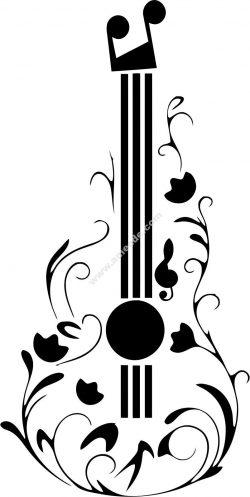 Guitar Tattoo Design
