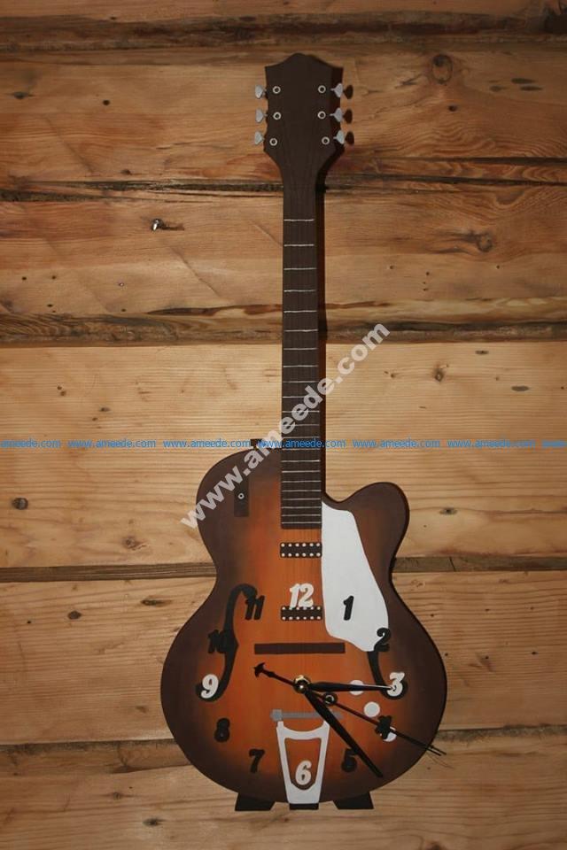 Guitar shaped clock cnc plan