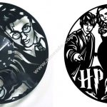 HARRY POTTER Vinyl Record Clock