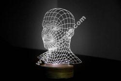 HEAD 3d illusion acrylic lamp