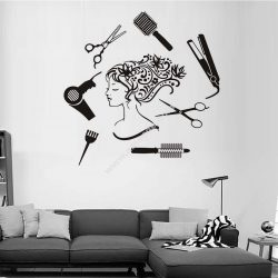 Hair Salon Girl Wall Art