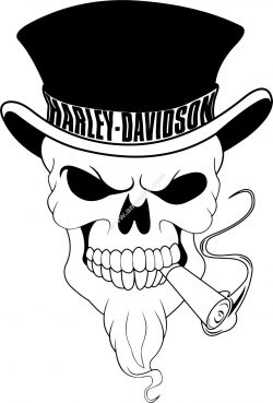 Harley Davidson Skull Vector