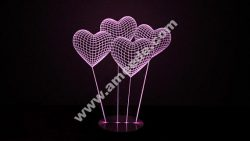 Heart 3D illusion Lamp