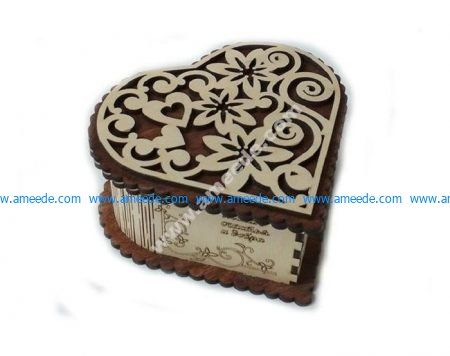 Heart Shaped Gift Box Plan for CNC Router Laser Cut