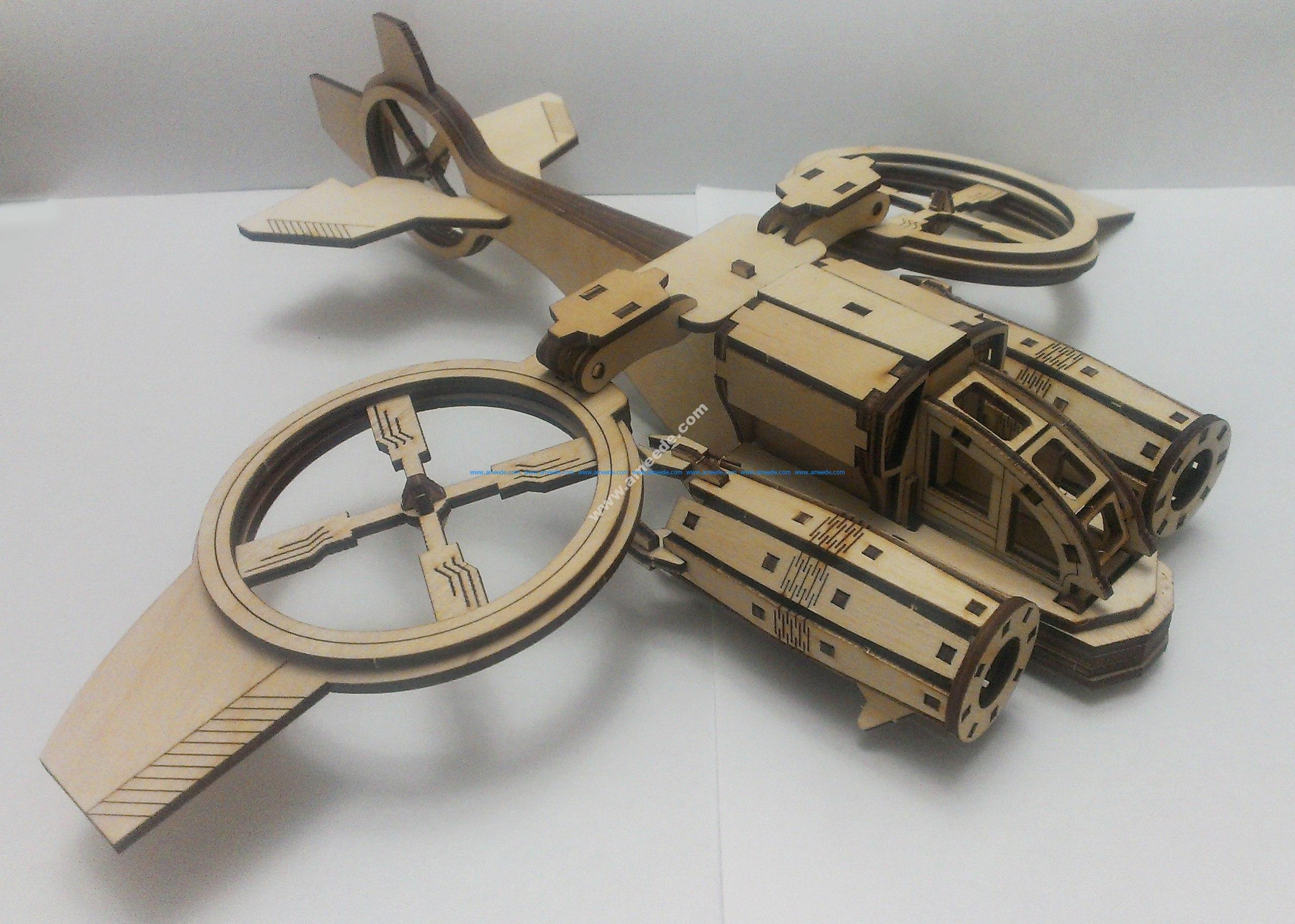Helicóptero Banshi Avatar Sa-2 Samson Similar. Mdf Laser